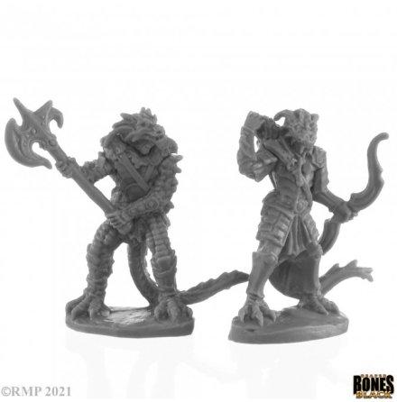 DRAGONFOLK FIGHTER AND RANGER (BONES BLACK)