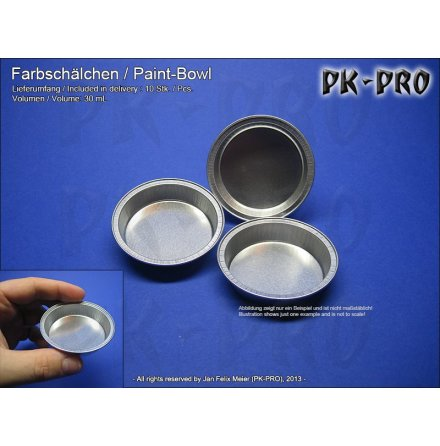 PK Paint Bowls 30ml (10x)