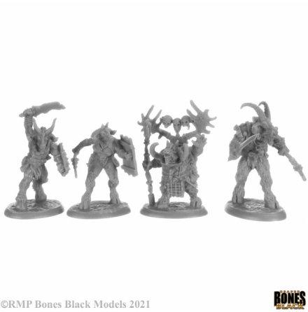BEASTMEN (4) (BONES BLACK)