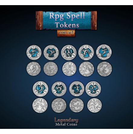 RPG Spell Tokens - Blue/Green