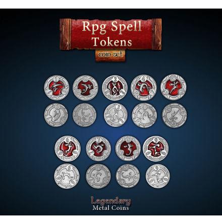 RPG Spell Tokens - Red