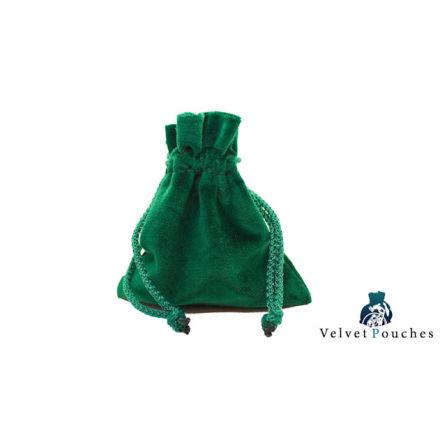 Velvet Pouch - Green