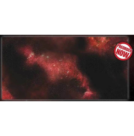 Gaming Mat: Crimson Gas Giant